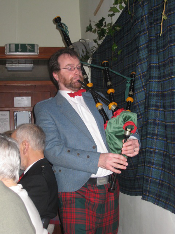 Piping in the Haggis